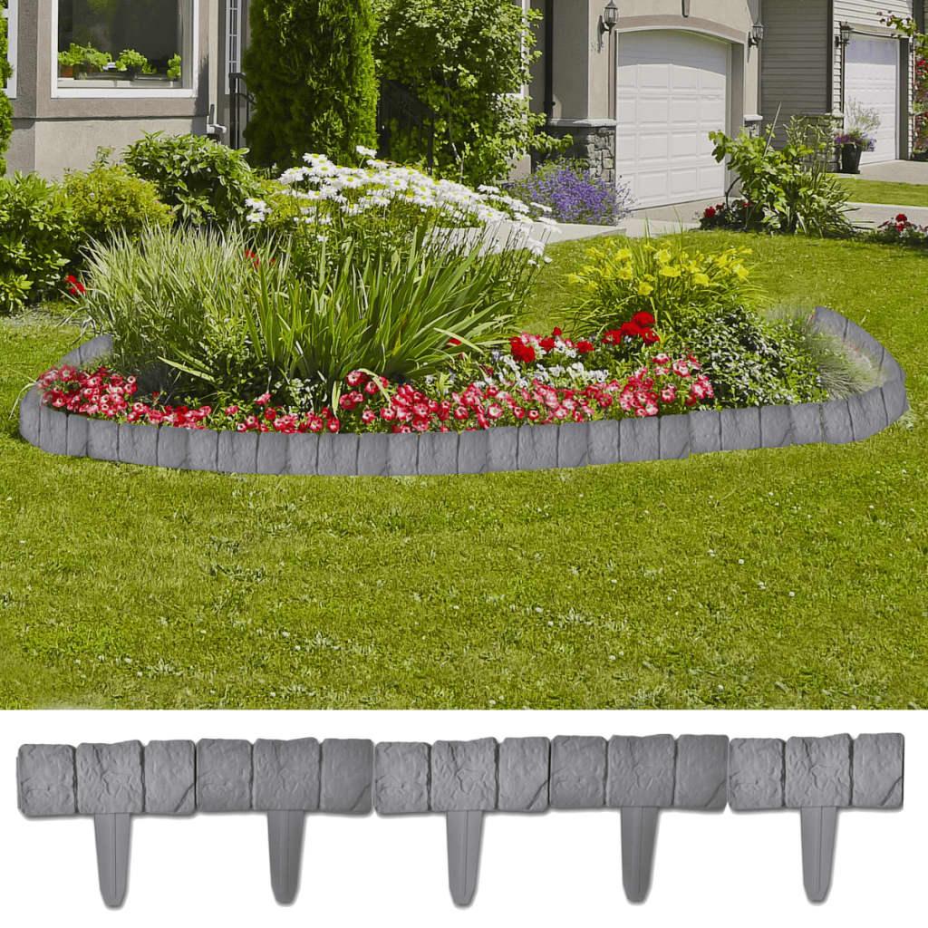 Vidaxl Bordure De Jardin Imitation Pierre Bordurette Clôture ... pour Bordure De Jardin En Pierre