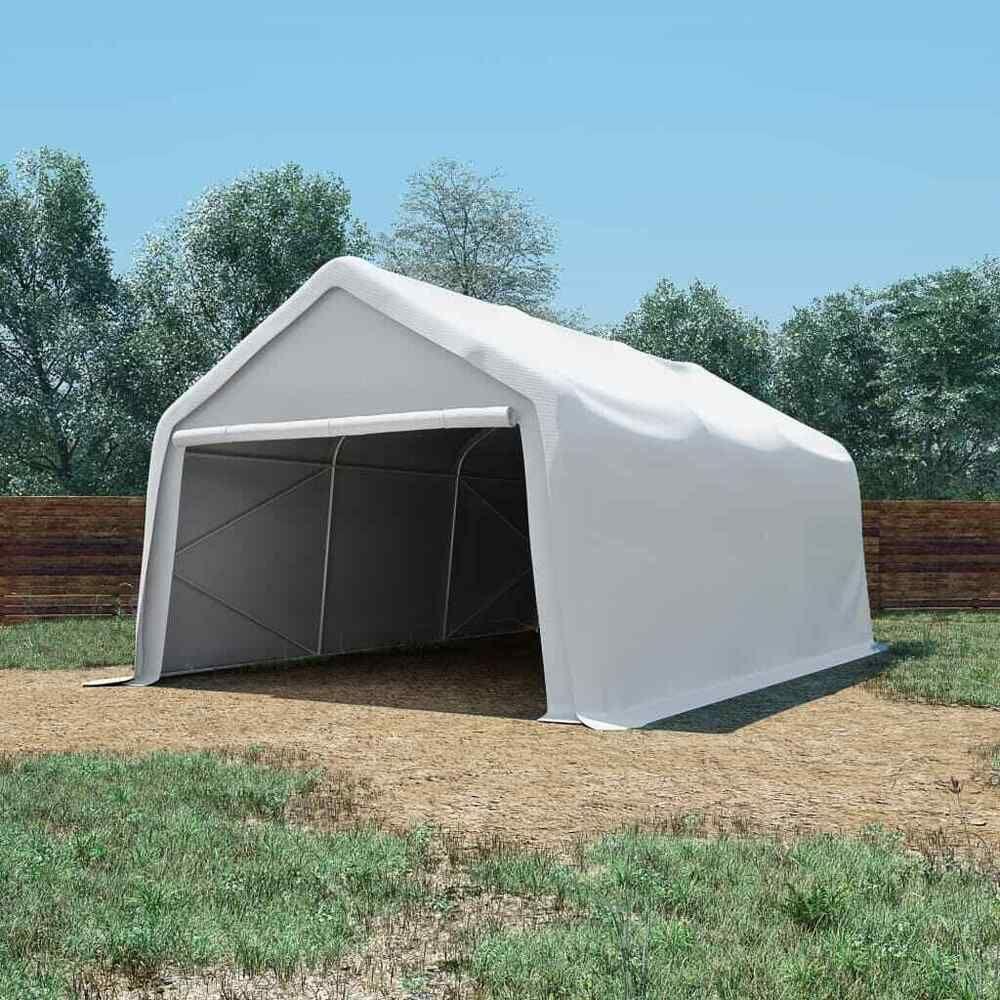 Vidaxl Tente De Rangement Pvc 4X6 M Blanc Tente De Jardin ... avec Tente De Jardin Pas Cher