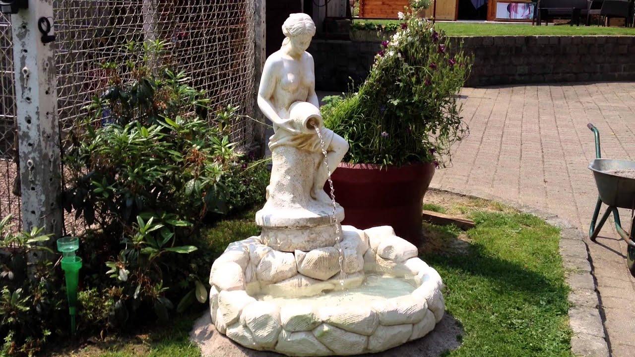 Video Fontaine De Jardin Femme - pour Statue Fontaine De Jardin