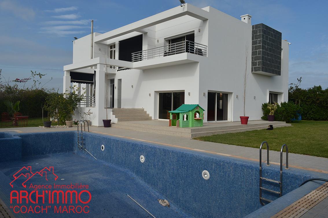 Villa Design Avec Piscine | Agence Immobiliére El Jadida ... avec Les Jardins D El Jadida