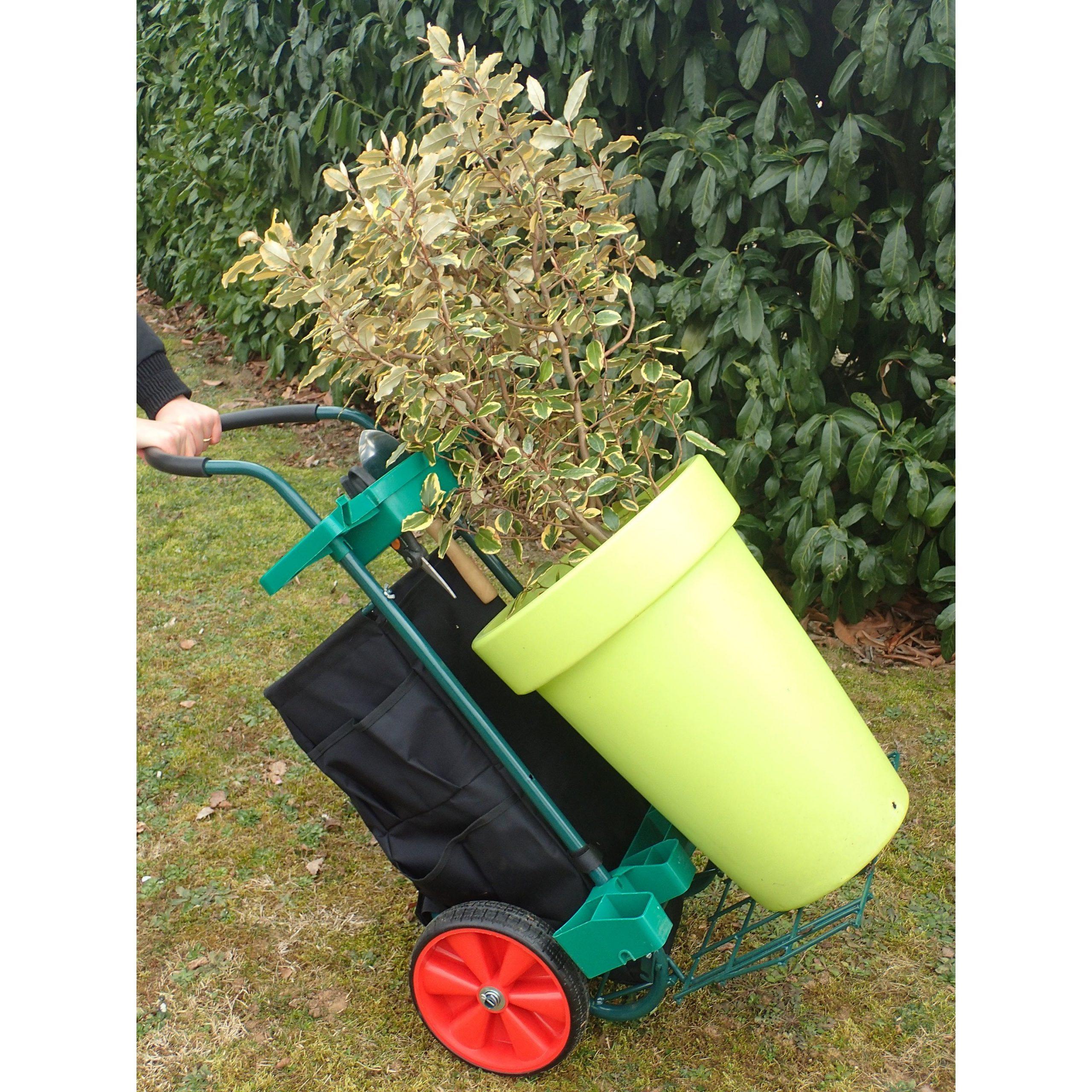 Vilmorin Chariot De Jardin Multifonction Dispositifs De ... dedans Chariot De Jardin 4 Roues