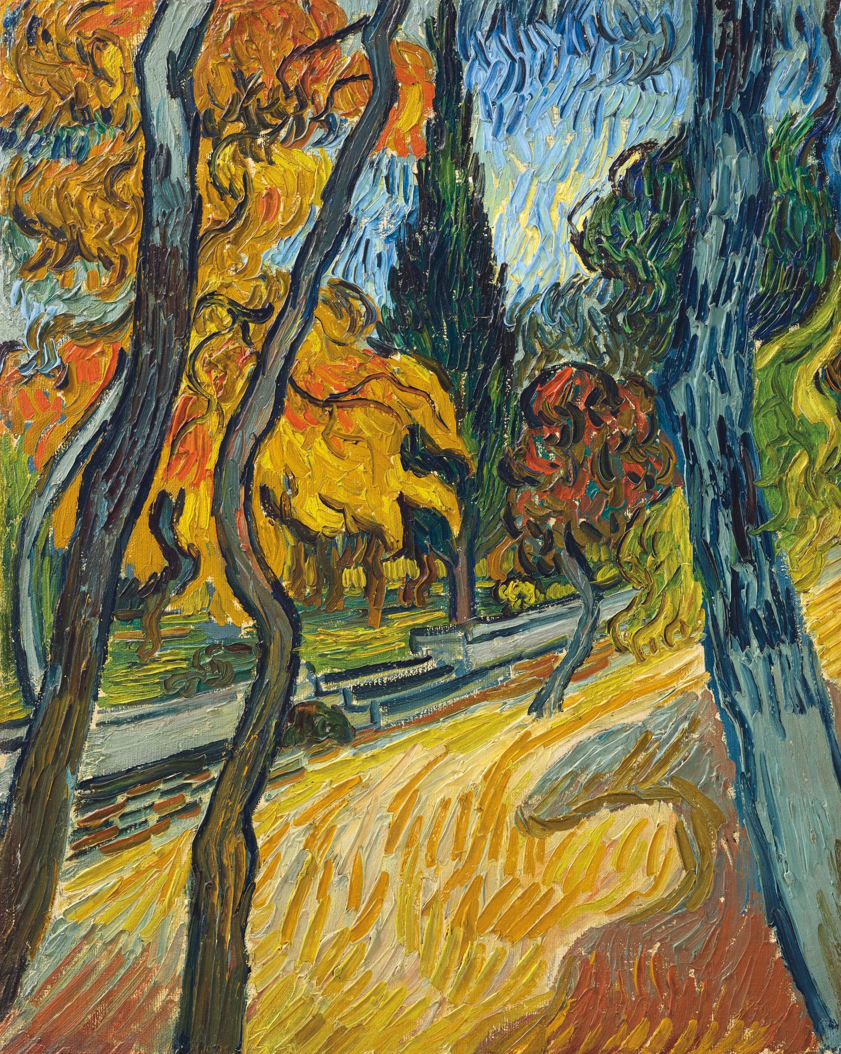 Vincent Van Gogh (1853-1890), Arbres Dans Le Jardin De L ... intérieur Jarre De Jardin