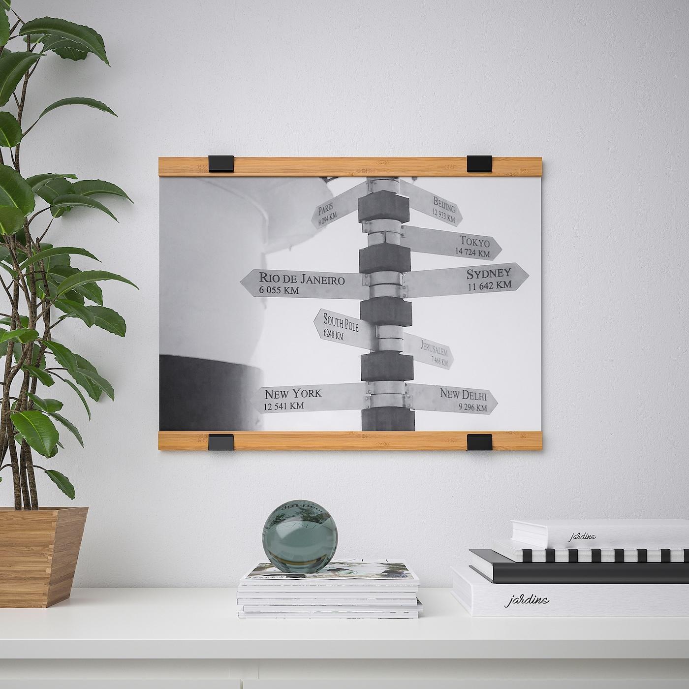 """Visbäck Poster Hanger - Bamboo 24 """" (61 Cm) encequiconcerne Desserte Jardin Ikea"""