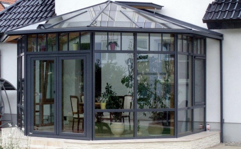 Vitrage De Jardins D'hiver (33 Photos): Dessins Des Fenêtres ... destiné Construire Jardin D Hiver