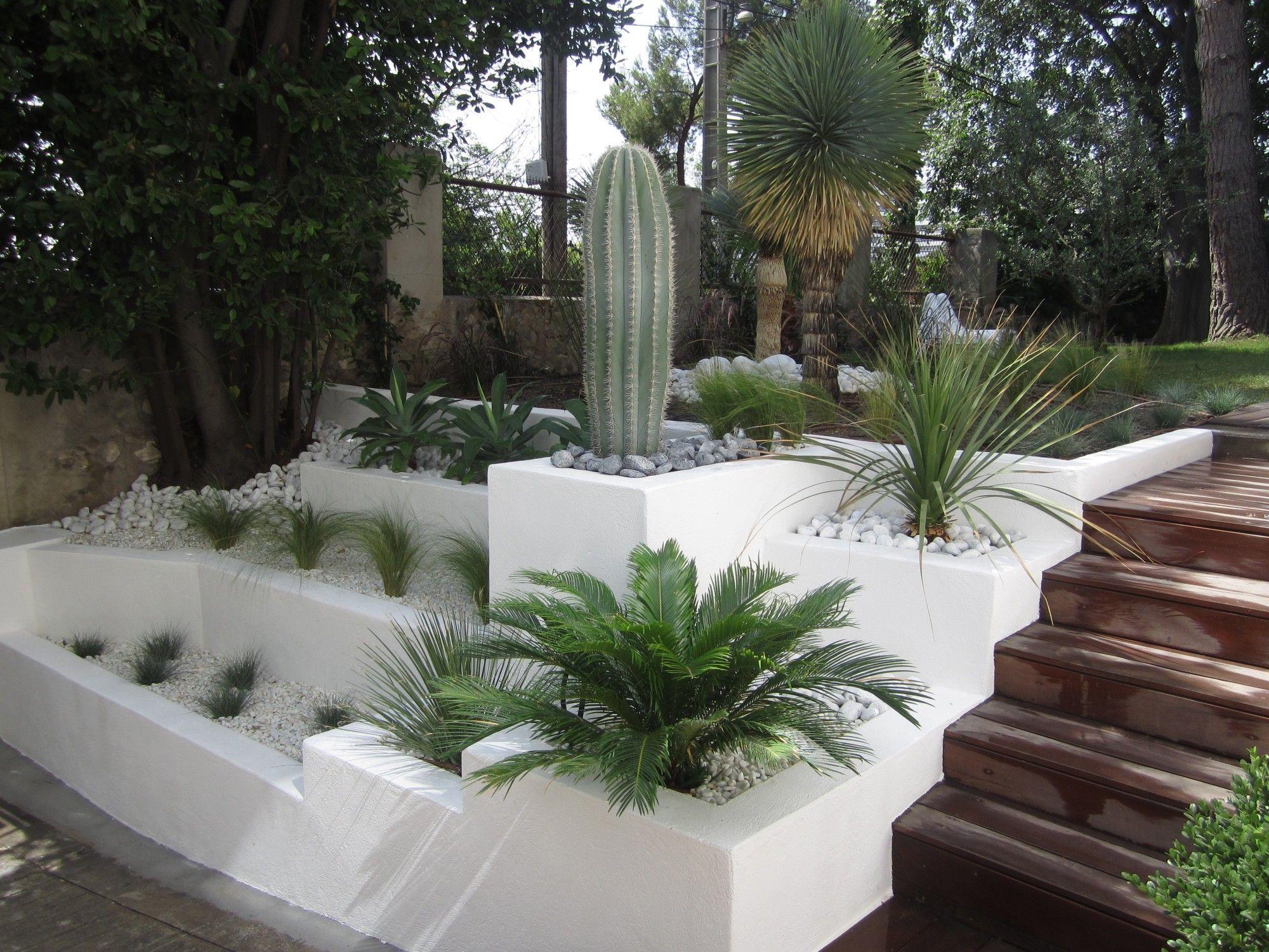 Voici Un Exemple D'aménagement De L'entrée Principale D'une ... pour Exemple De Jardin Méditerranéen