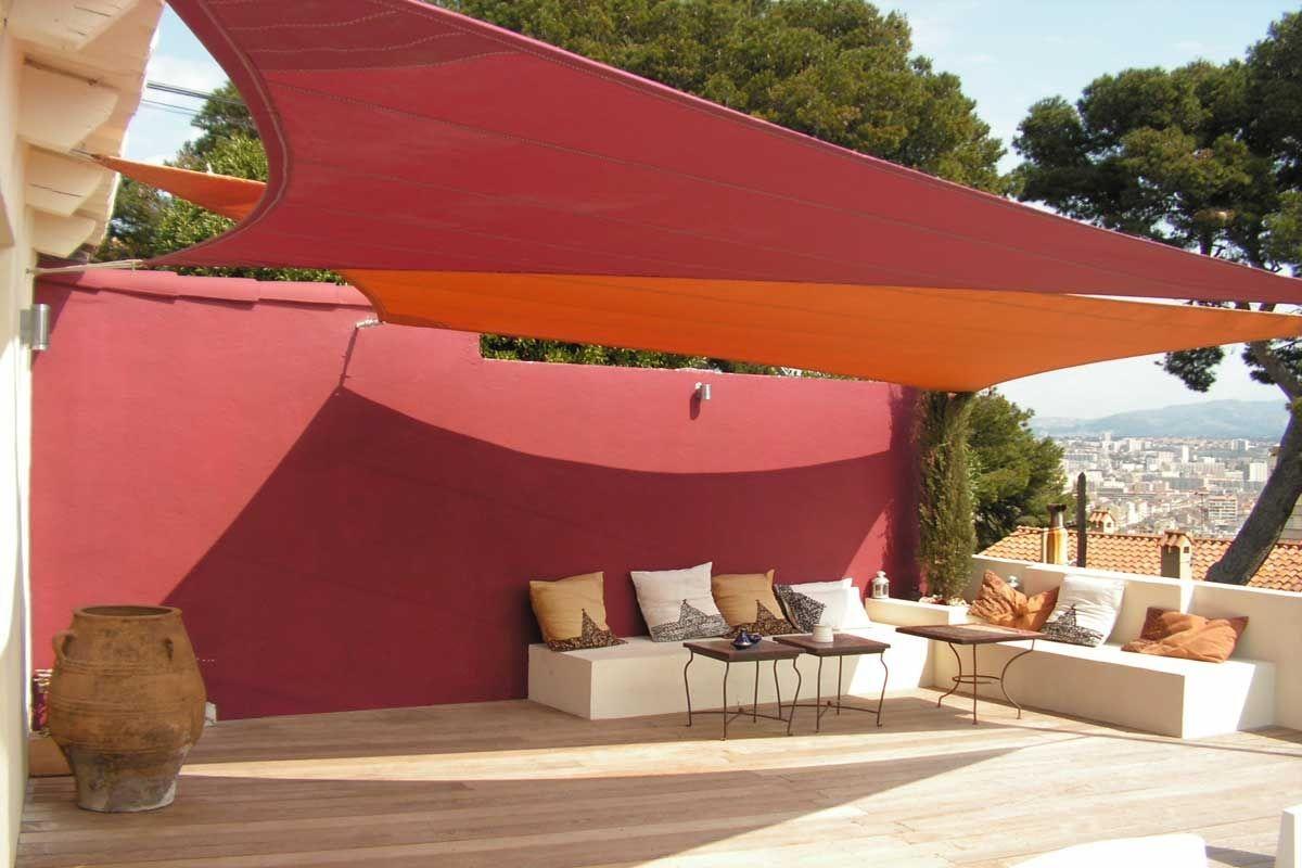 Voile D'ombrage Résistante Aux Uv / Carrée / Triangulaire ... pour Toile Triangle Jardin