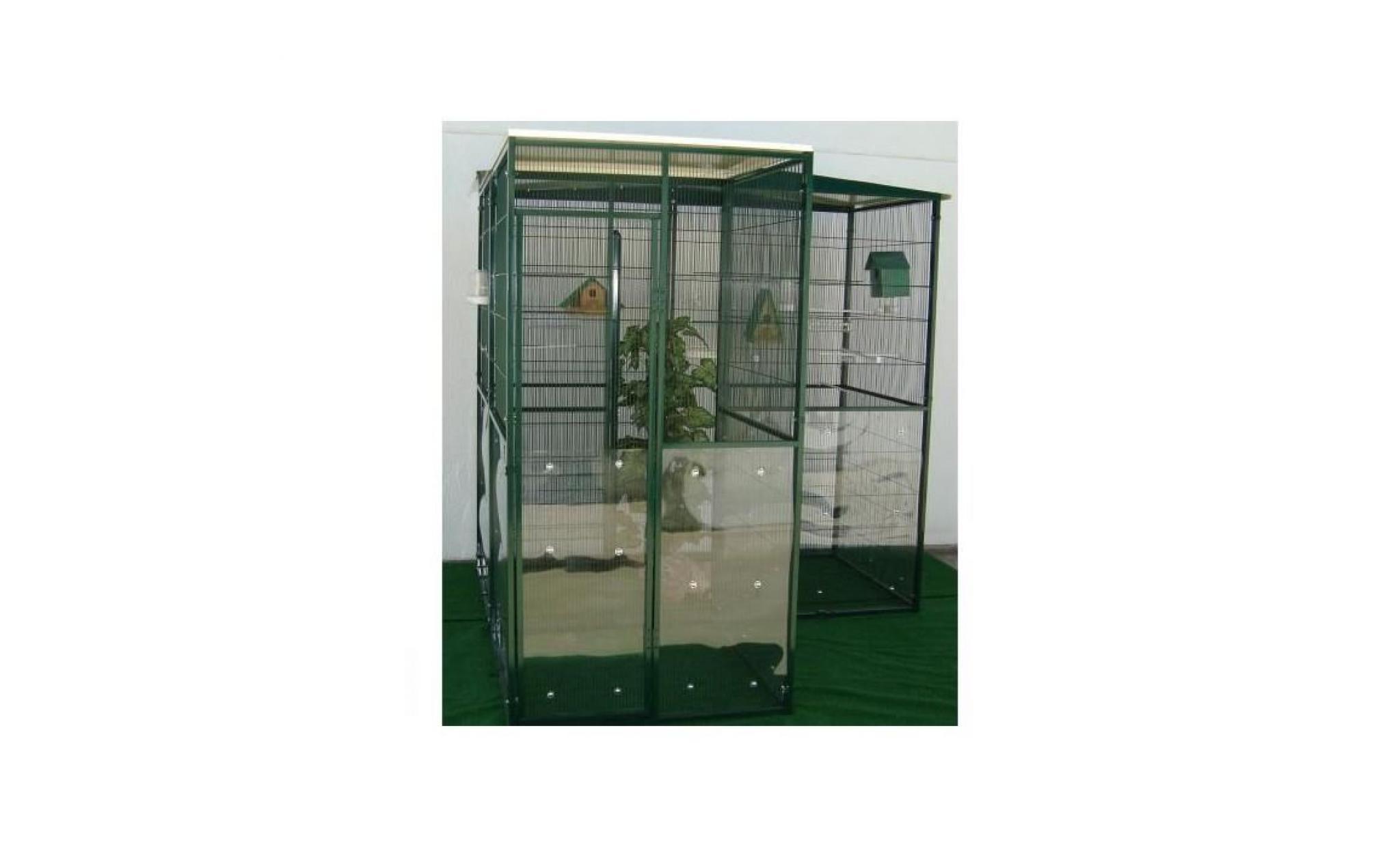 Voliere De Jardin 3M² Avec Cage De Securite 1M² destiné Voliere De Jardin