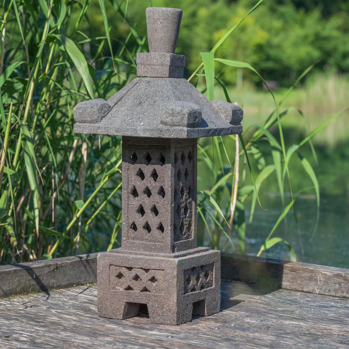 Wanda Collection Lanterne Japonaise En Pierre De Lave 55Cm ... à Lanterne Japonaise Jardin