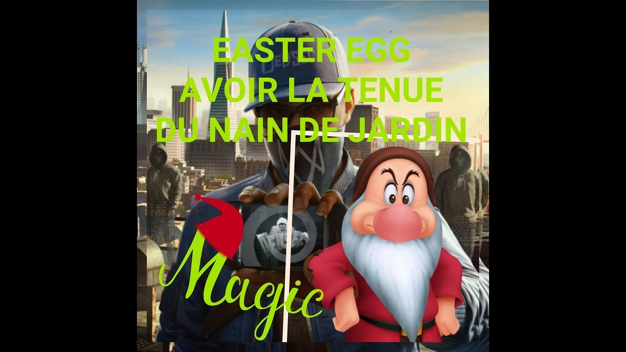 Watchdogs 2/ Easter Egg/secret/ Costume Nain De Jardin [Master's Garden] avec Nain De Jardin Design