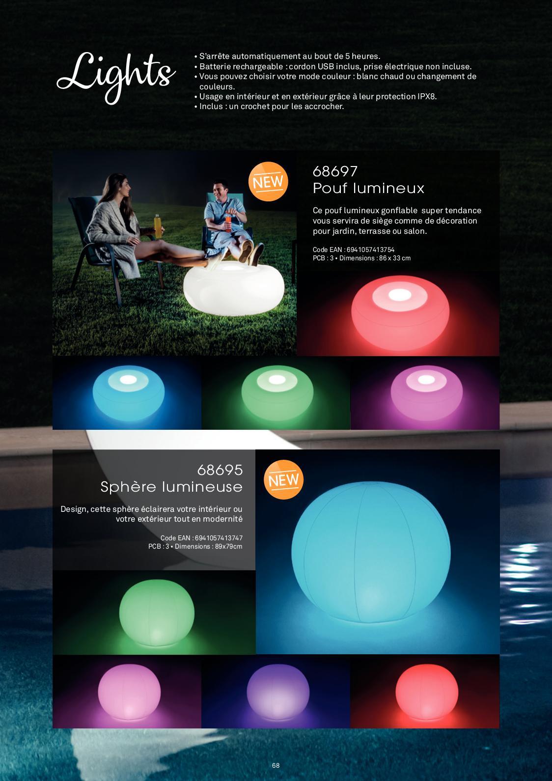 Web Catalogue Intex 2019 - Calameo Downloader serapportantà Sphere Lumineuse Jardin
