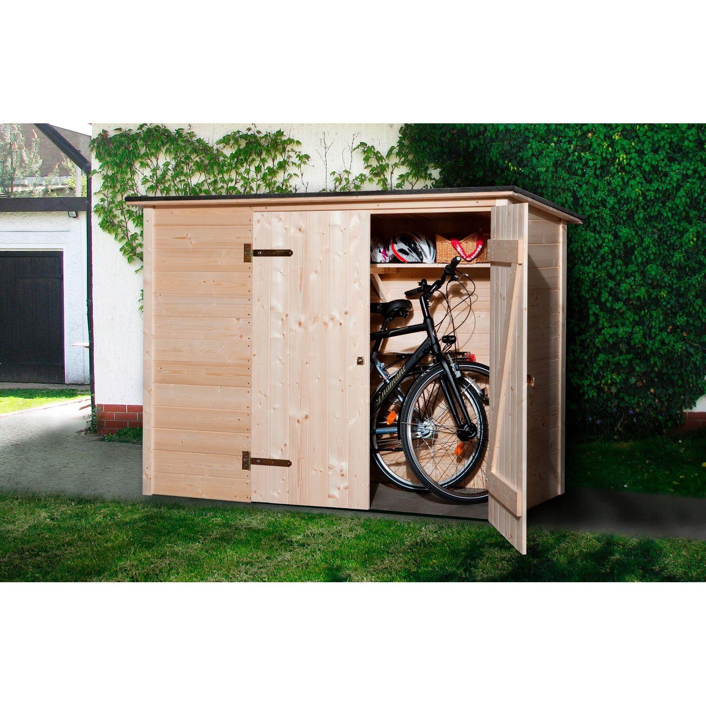 Weka Fahrrad-Box 205 Cm X 84 Cm   Abri Vélo, Abri De Jardin ... dedans Trimetals Abri Jardin