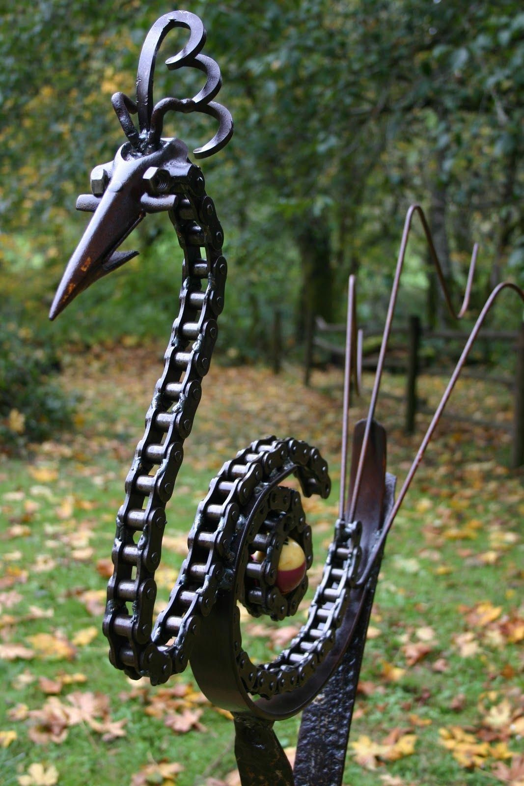 Welding Chain Art #weldingart | Sculpture Animaux, Soudure ... serapportantà Animaux Fer Forgé Jardin