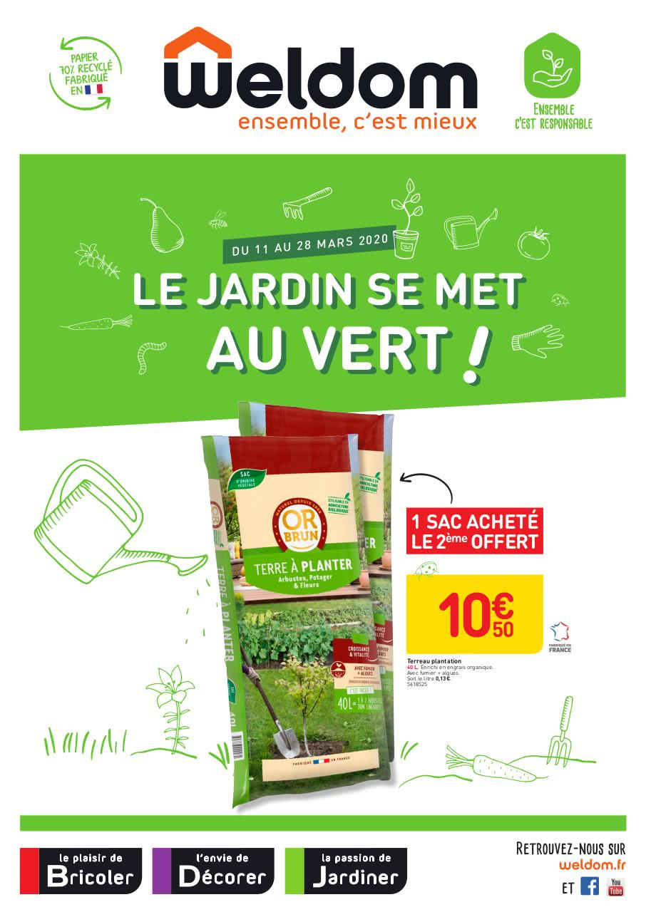 Weldom Linselles Catalogue Le Jardin Se Met Au Vert ... à Abri De Jardin Weldom