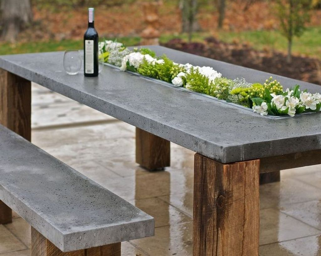 When You Have Invested In An Outdoor Wood Table, You Need To ... concernant Table De Jardin En Ciment