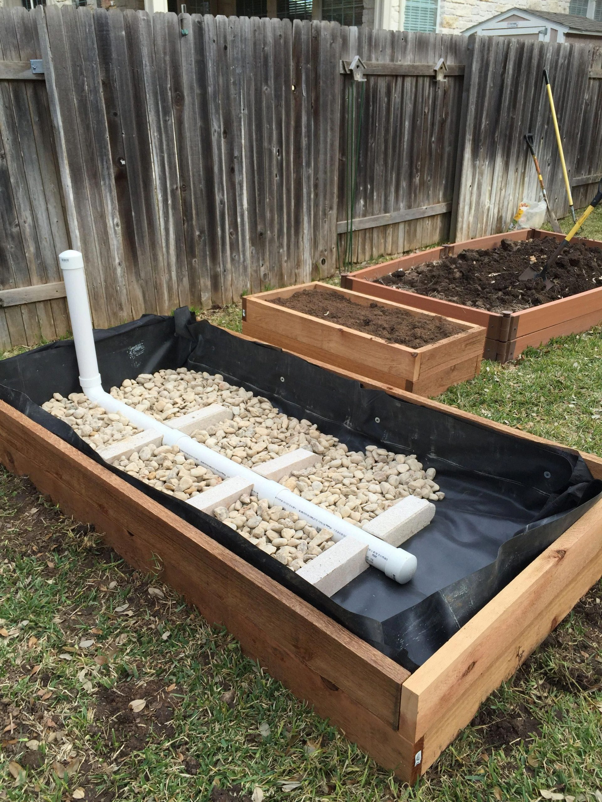 Wicking Garden Bed: Stage 2 #raisedgardenbeds | Jardin En ... avec Chassis De Jardin