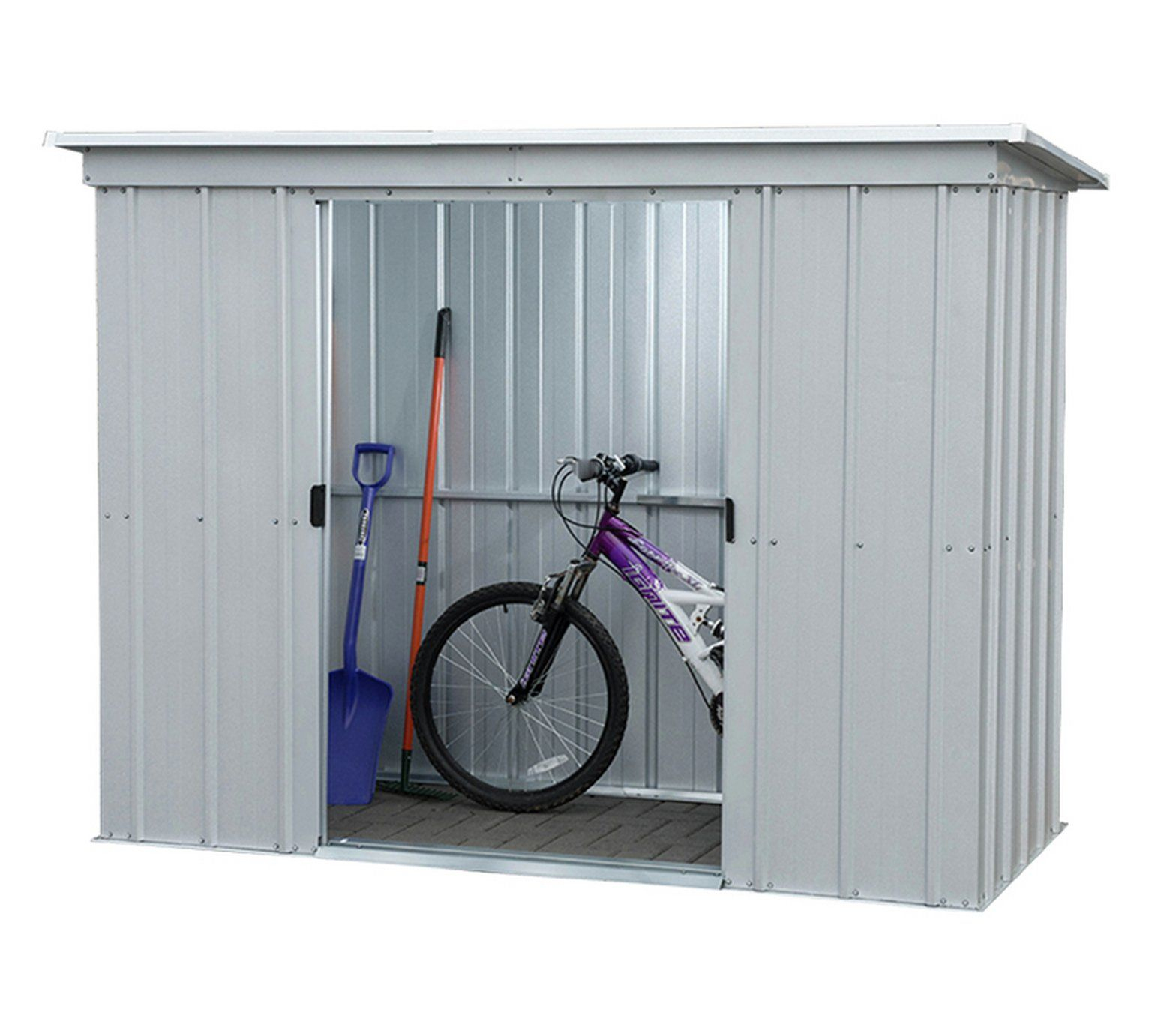 Yardmaster 10 X 4 Pent Metal Shed | Garden Storage Shed ... concernant Trigano Abri De Jardin