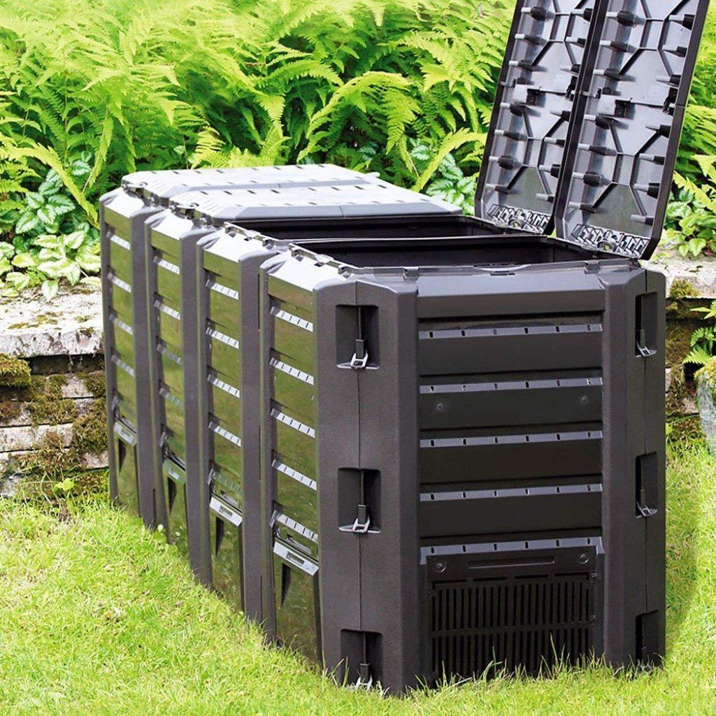 Yimby Composteur Tournant Jardin Composts Et Déchets De ... destiné Composteur De Jardin