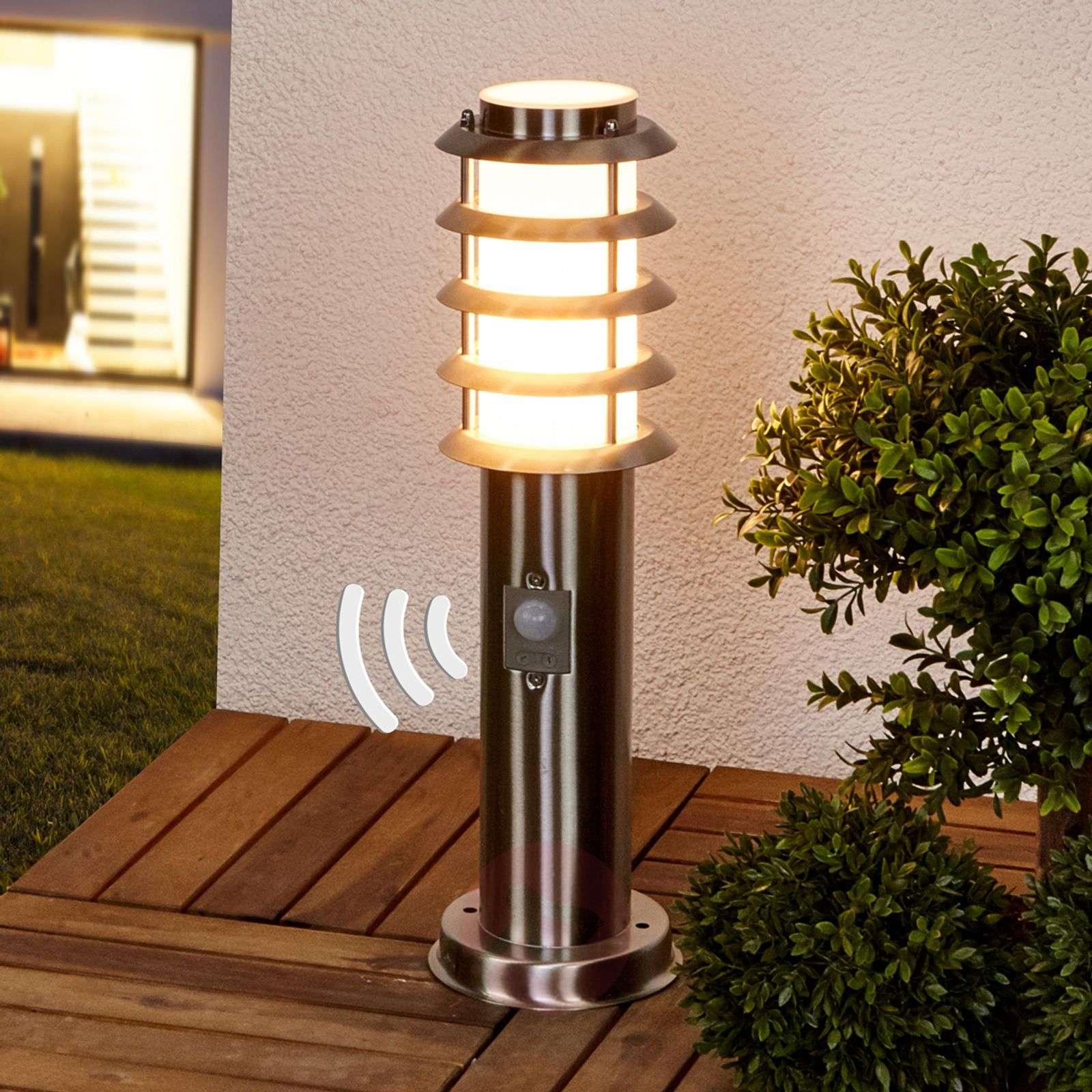 1 Lampe,à E27, A++ Lampe Jardin En Gris En Inox Moderne ... avec Lampe Pour Jardin Exterieur