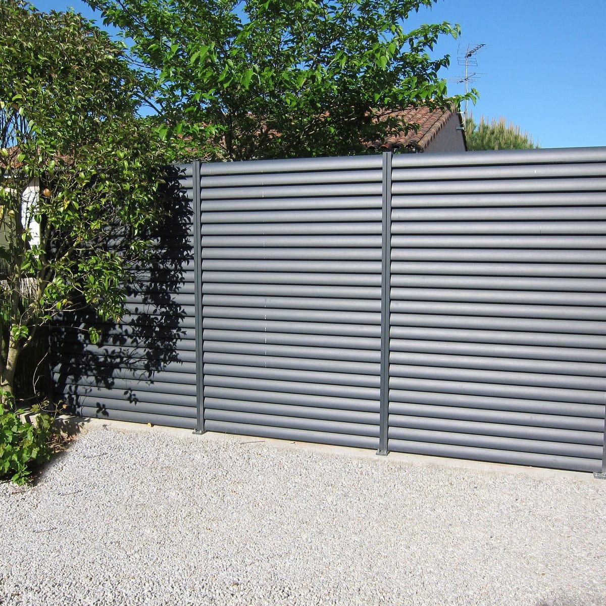 100+ [ Brise Vue En Aluminium ] | Clôture Alu,portail A ... concernant Brise Vent Jardin