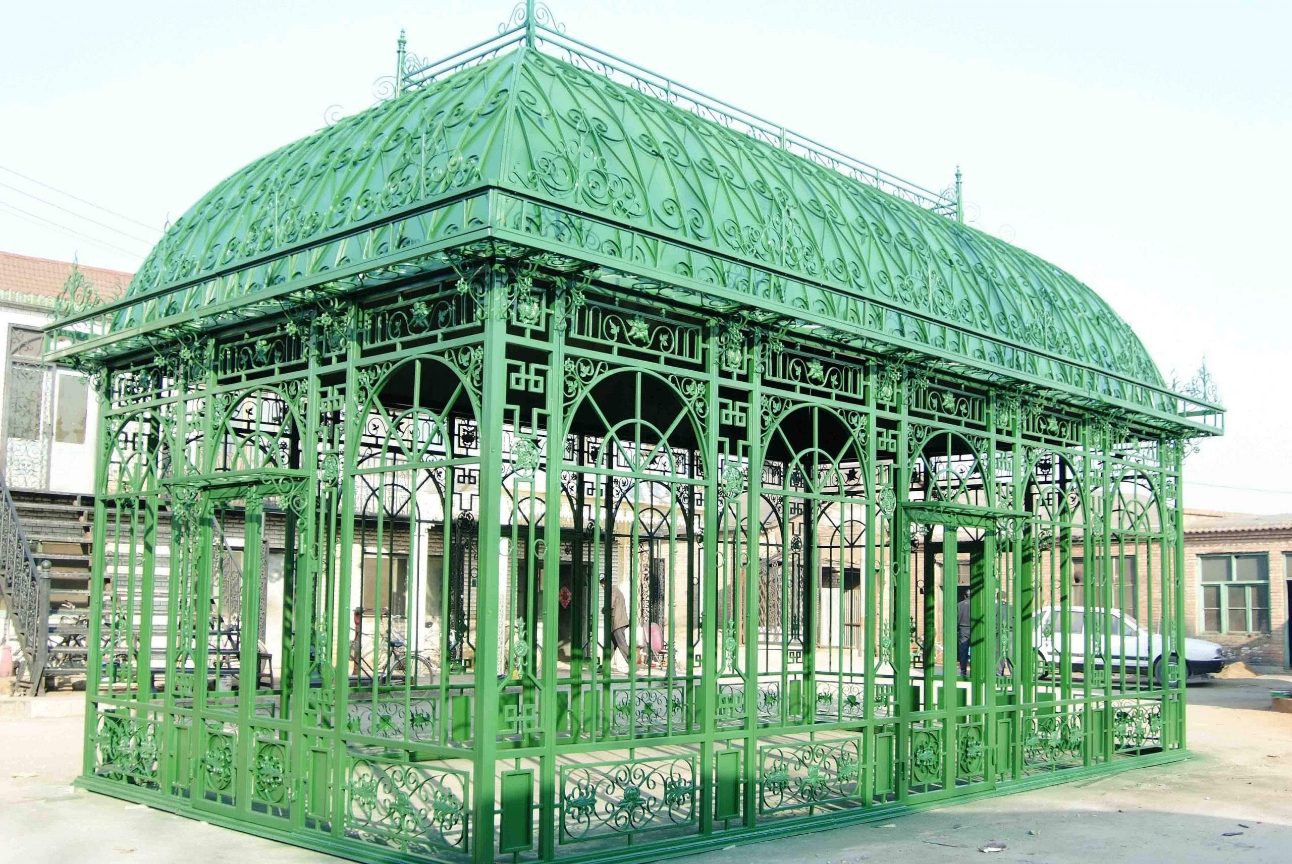 100+ [ Kiosque Jardin Fer ] | Marquise En Fer Forgé Pied De ... tout Kiosque Jardin Fer