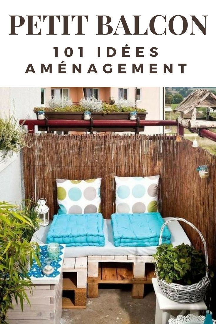 101 Idées Déco & Aménagement Pour Un Petit Balcon | Balcón ... à Decoration D Un Petit Jardin