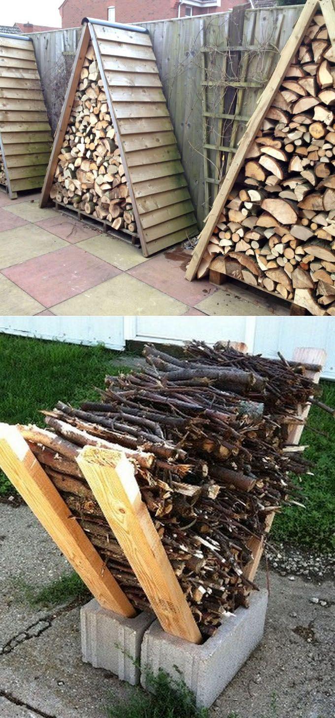 15 Fab Firewood Rack & Best Storage Ideas! | Bois De ... pour Hangar Jardin Bois