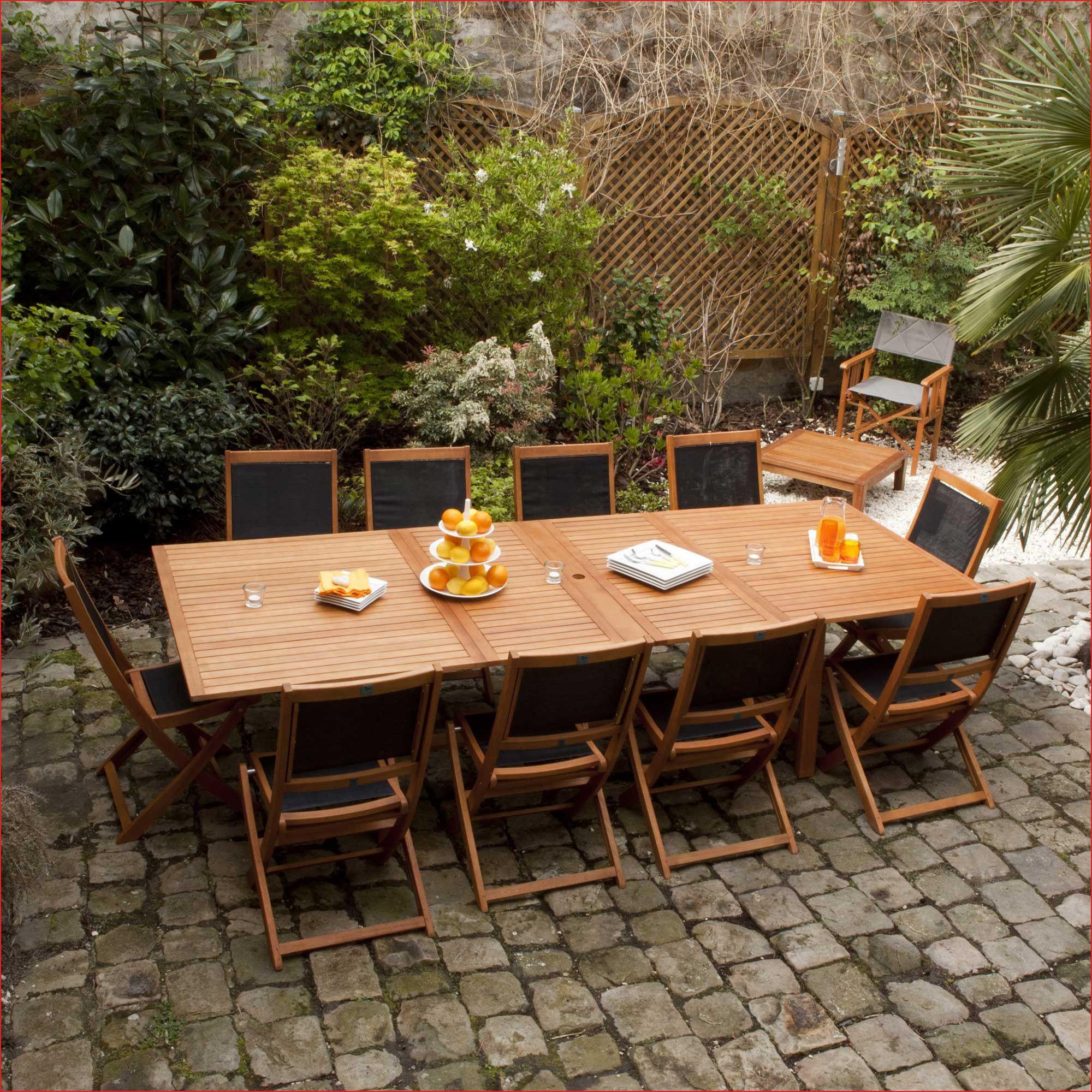 23 Génial Table Exterieur Teck | Salon Jardin avec Table De Jardin Castorama
