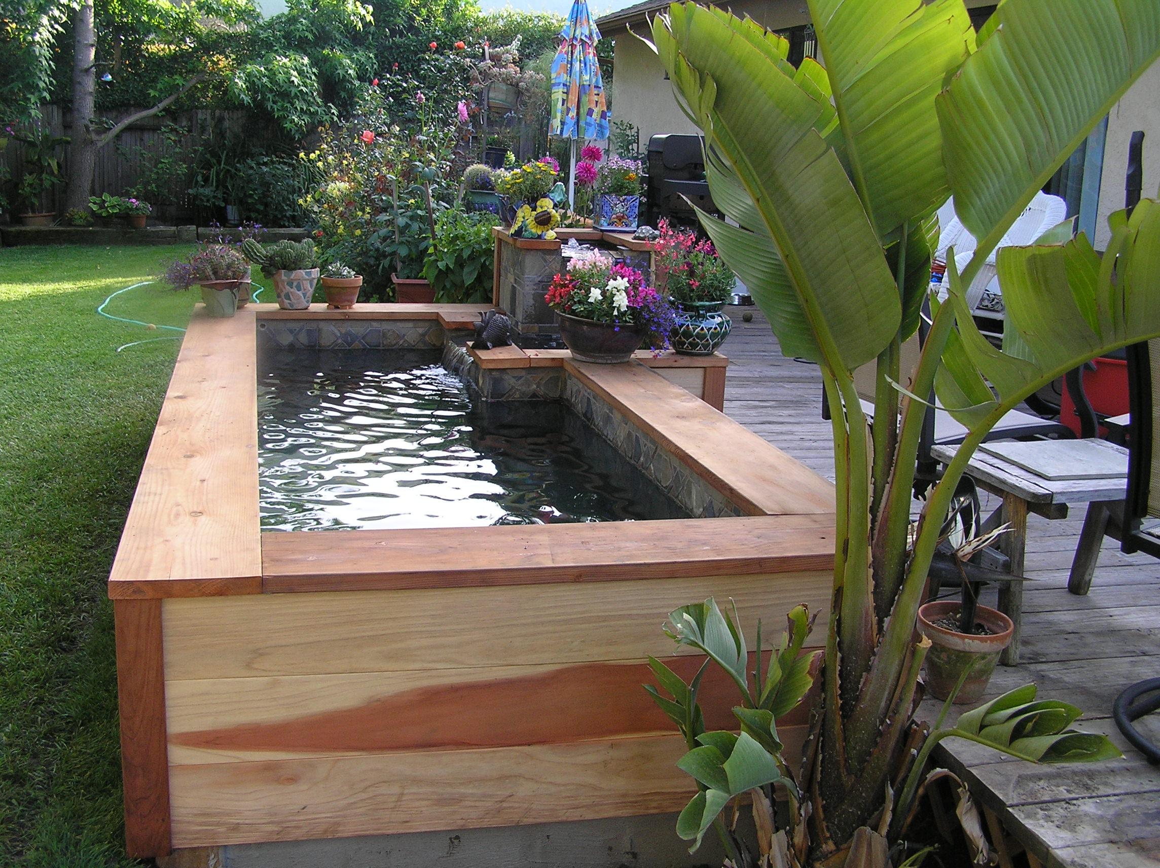 5 Questions À Se Poser Avant De Construire Un Bassin Hors Sol serapportantà Faire Un Bassin De Jardin