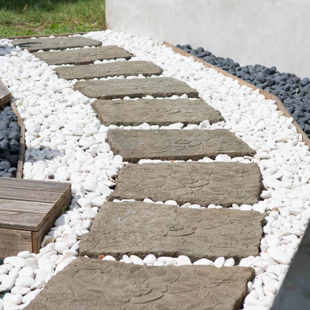 5 Sacs De Galet Blanc De 10Kg tout Galets Blancs Jardin
