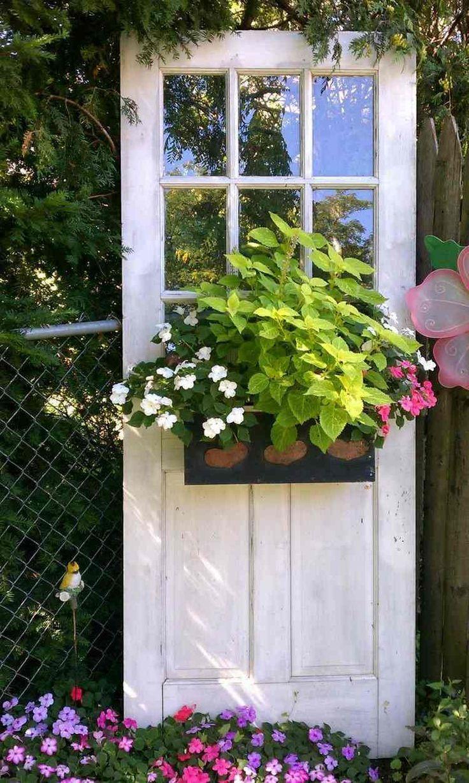 55 Idées Déco Jardin – Réutiliser Les Vieilles Portes Et ... à Deco Jardin