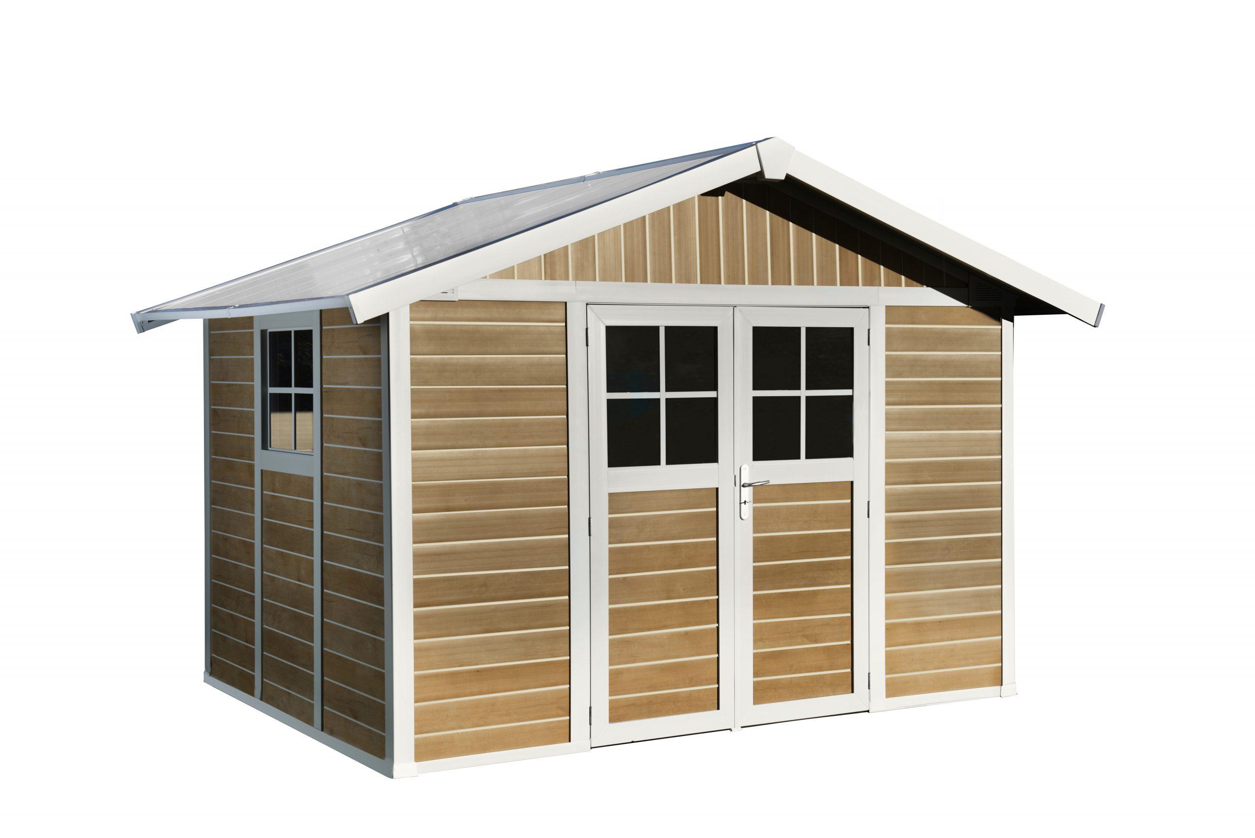7.5 M² 'sherwood Deco' Garden Sheds | Grosfillex encequiconcerne Grosfillex Abri De Jardin Pvc