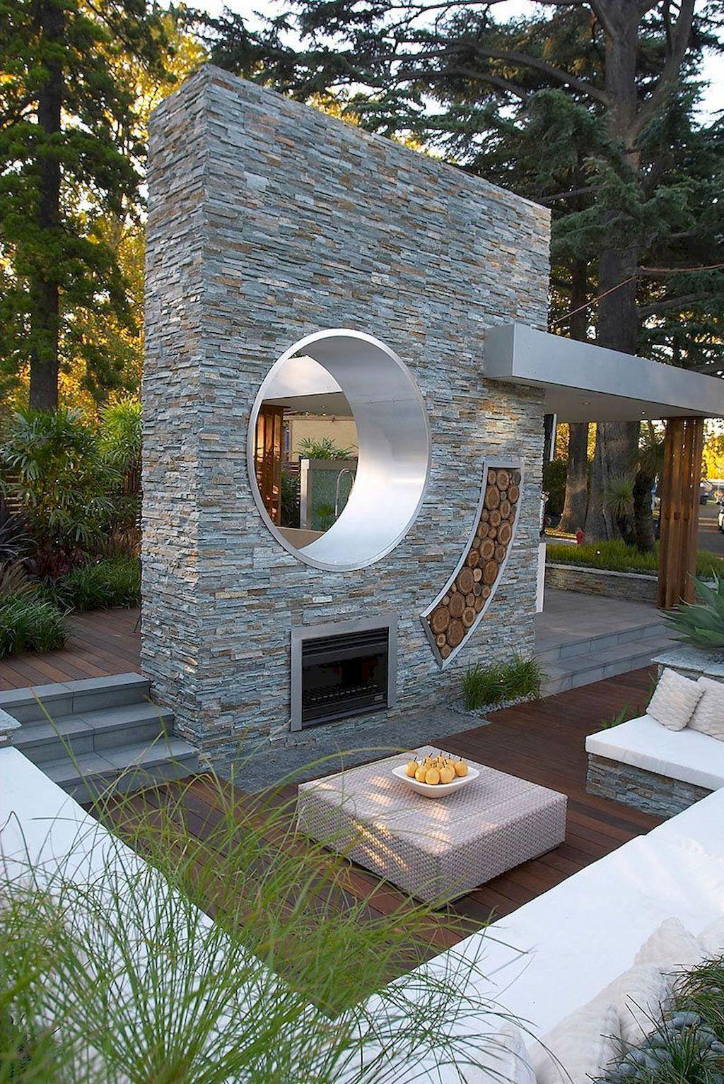 70 Finest Outside Fireplaces Desigen Concepts | Fontaine De ... concernant Fontaine De Jardin Moderne