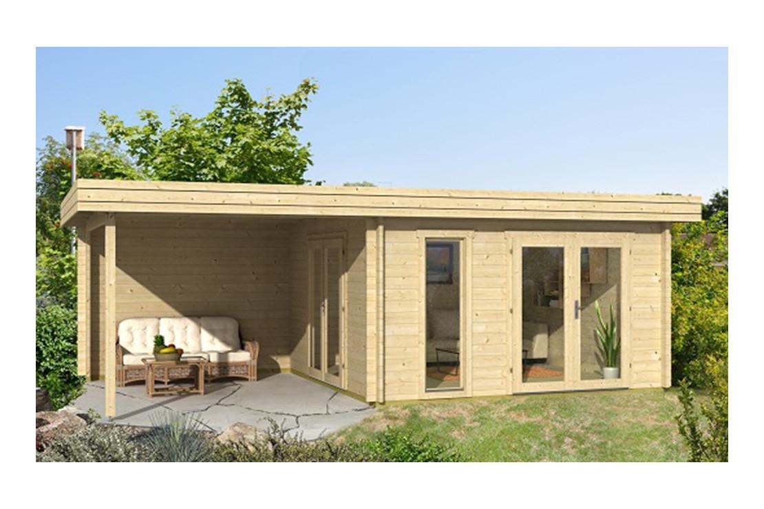 Abri Bois Rodez 44 Mm - 12,3 M² Intérieur + 9,4M² pour Chalet De Jardin