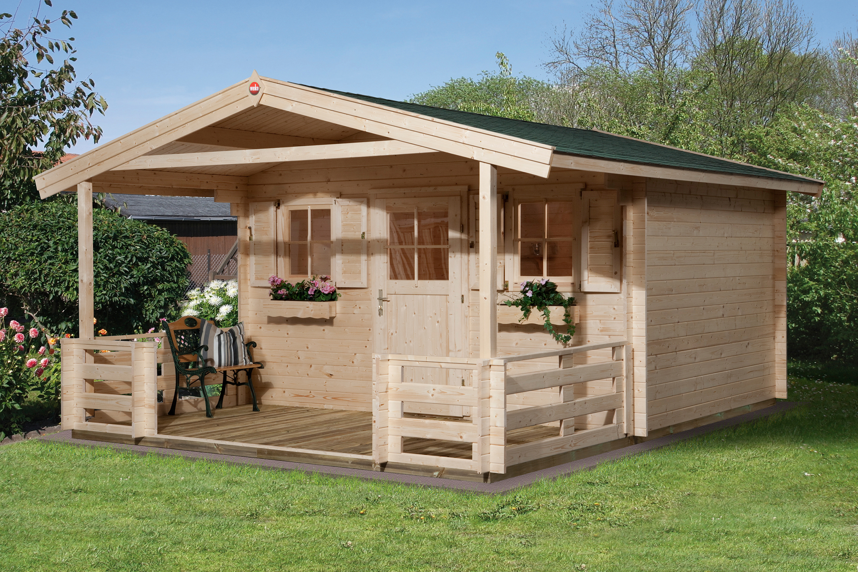Abri De Jardin Avec Auvent Et Terrasse - Abri Bois De 10 À 15 M² Nea Concept destiné Abri Avec Auvent