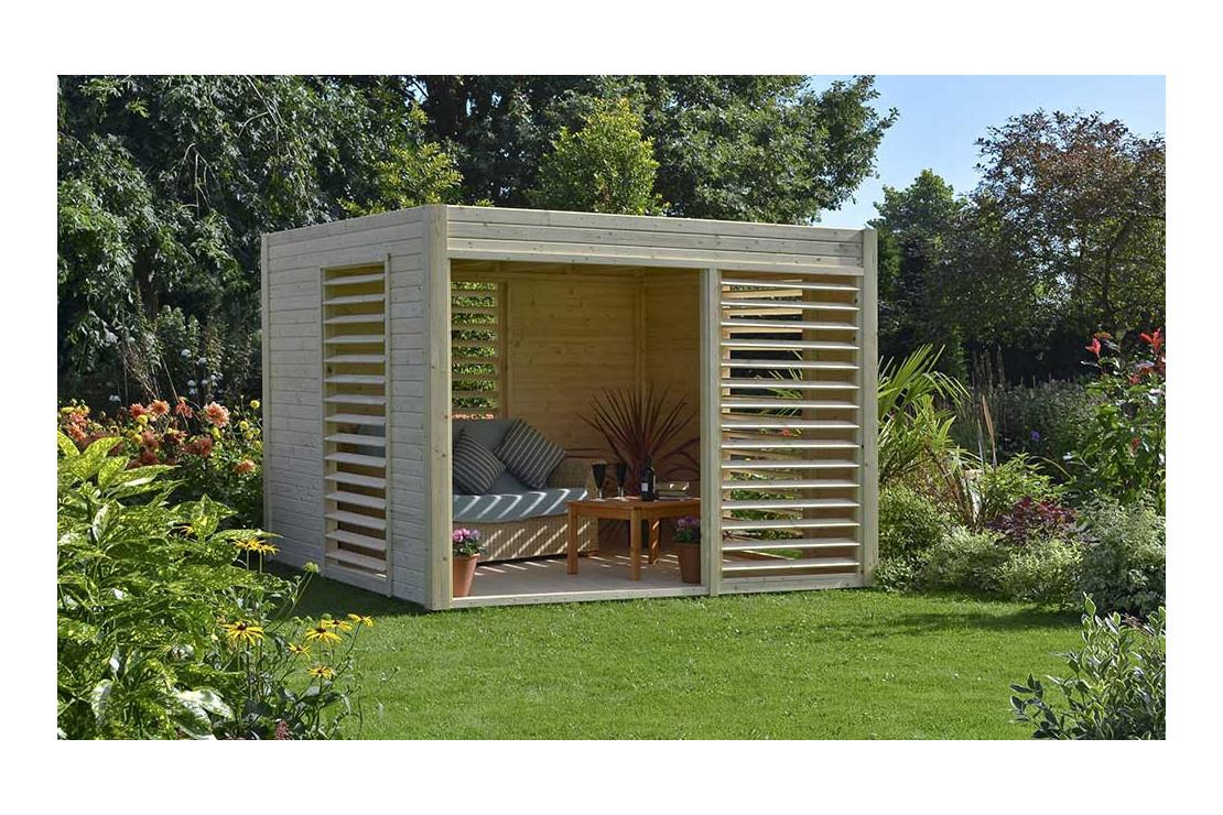 Abri De Jardin Bois Design 19Mm Arty 264X256X223Cm destiné Abris De Jardin Bois