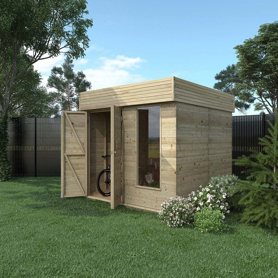 Abri De Jardin Bois Hutta 4.8 M² Ep.15 Mm - Leroy Merlin ... concernant Abri Jardin Contemporain