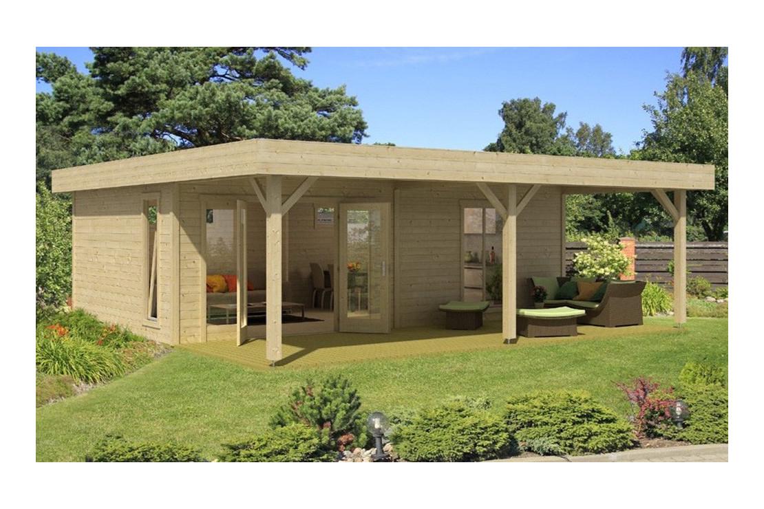 Abri De Jardin Brava 44Mm - 27,5M² Intérieur + 17,5M² destiné Chalet De Jardin