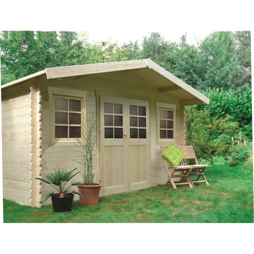 Abri De Jardin En Bois Solid Dole 388X298Cm 10M² pour Abri De Jardin 10M²
