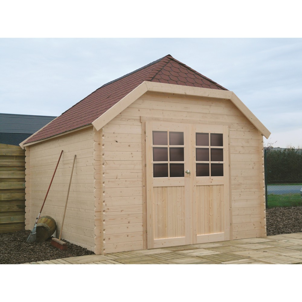Abri De Jardin En Bois Solid Limerick 298X388Cm 10M² pour Abri De Jardin 10M²