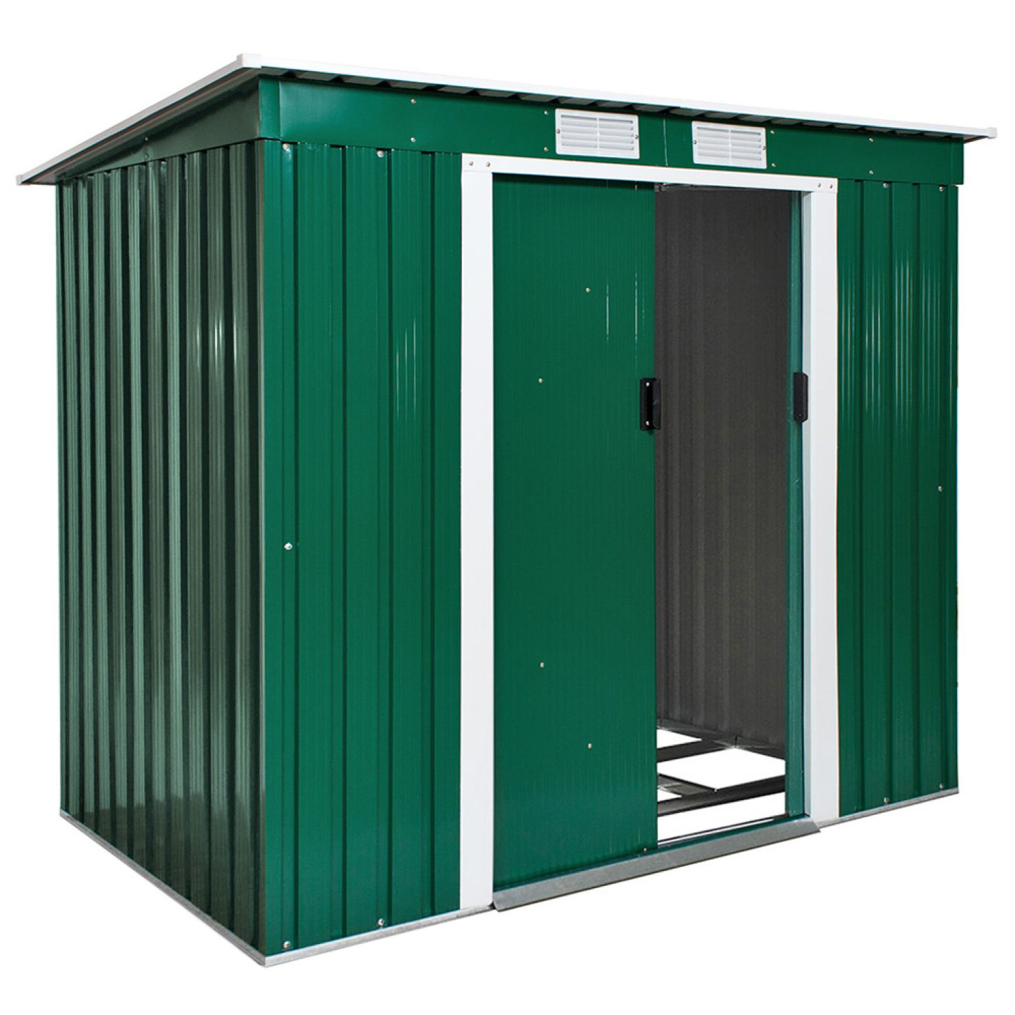Abri De Jardin Métal 2,7 M² Toiture Monopente Vert avec Abri Jardin Metal Pas Cher