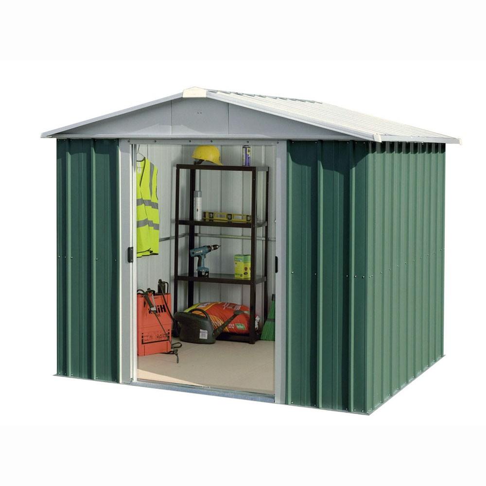 Abri De Jardin Métal Yard Master 5,25 M² Alu Et Vert pour Abri De Jardin Metal
