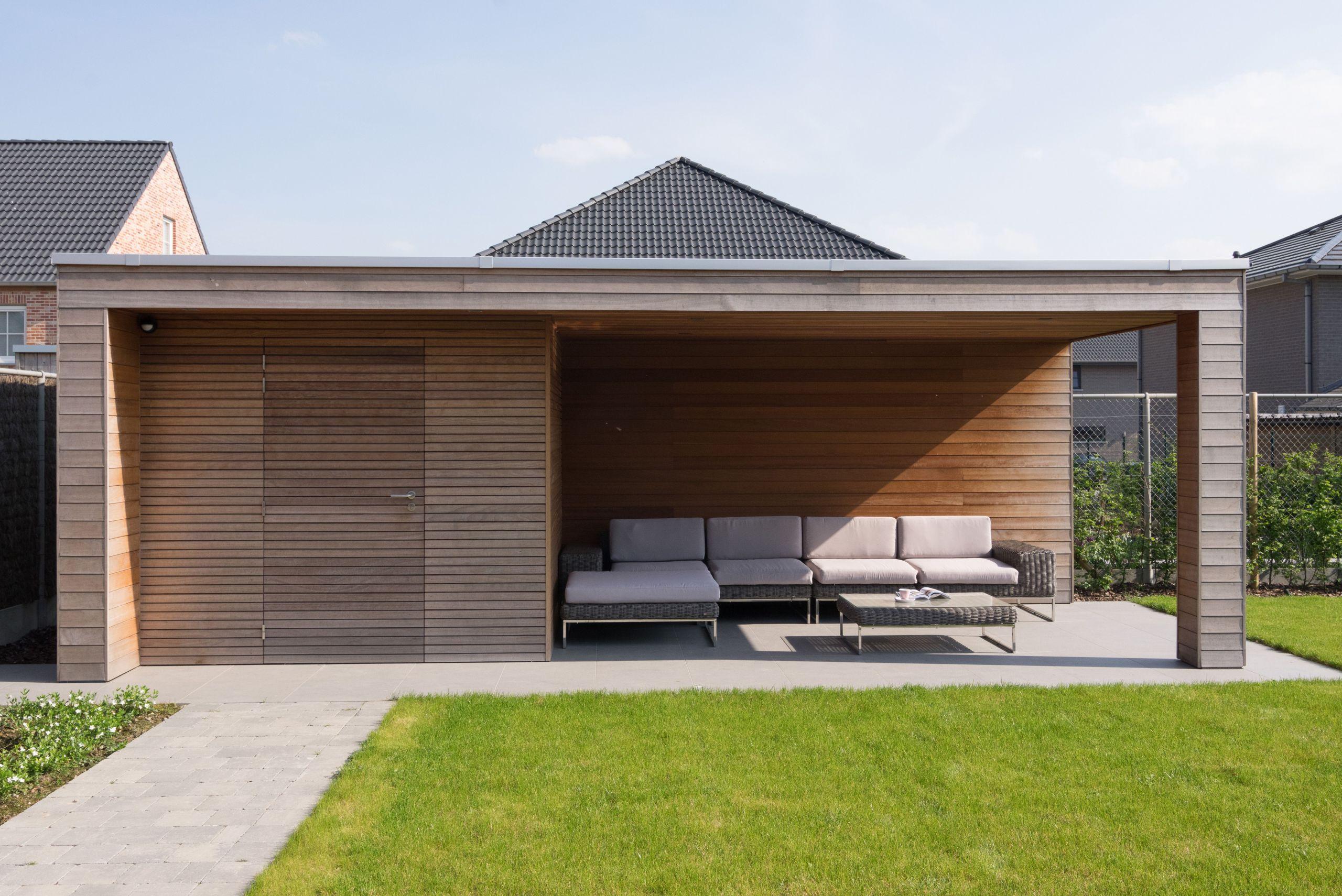 Abri De Jardin Moderne Modern Tuinhuis Met Overkapping Abri ... encequiconcerne Abri De Jardin Moderne