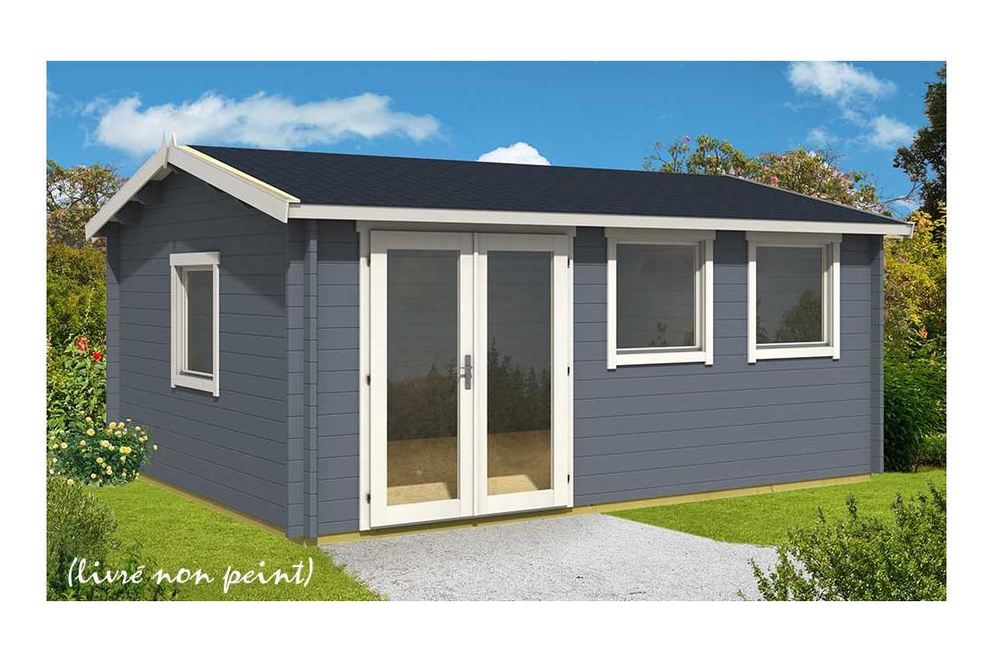 Abri De Jardin Nice 44 Mm Sans Plancher- 19,1M² Intérieur serapportantà Abri Jardin 20M2
