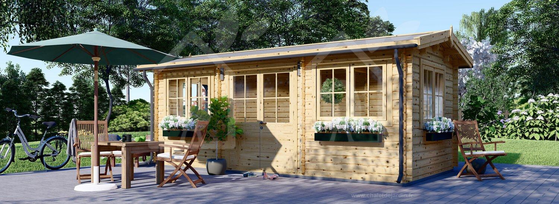 Abri De Jardin Oak (44 Mm), 6X3 M, 18 M² concernant Abri Jardin 18M2