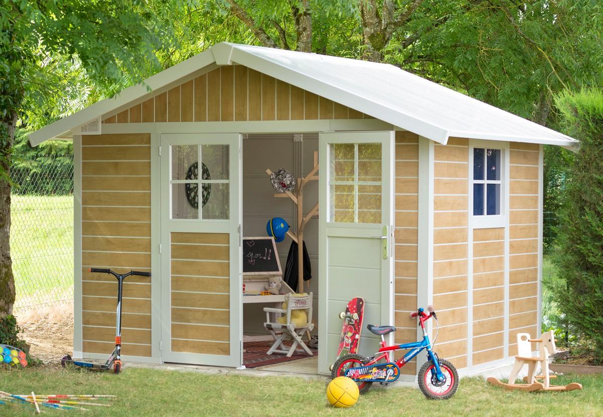 Abri De Jardin Pvc Grosfillex Deco 7,5 Sherwood à Grosfillex Abri De Jardin Pvc