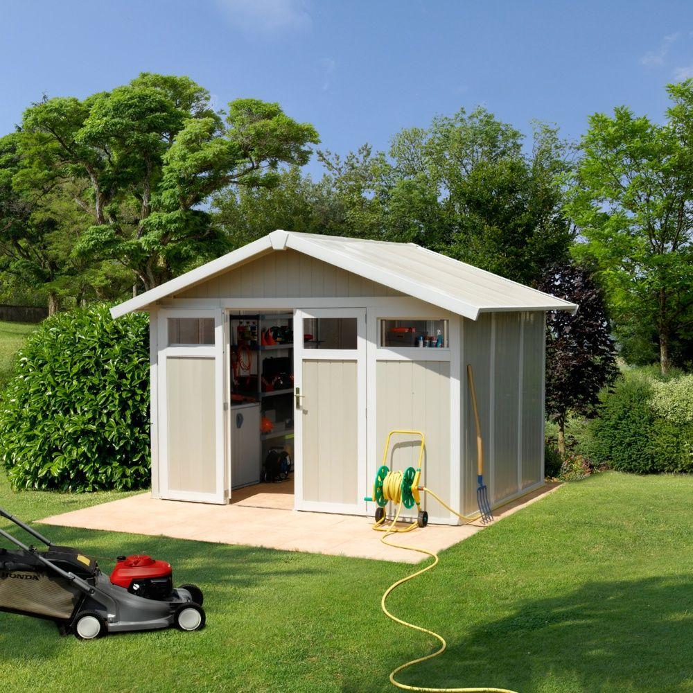 Abri De Jardin Résine Grosfillex 7,53 M² Ep. 26 Mm Utility avec Grosfillex Abri De Jardin Pvc