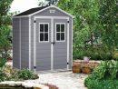 Abri De Jardin Résine Premium 65 Gris - 2,8 M² pour Abri De Jardin En Resine