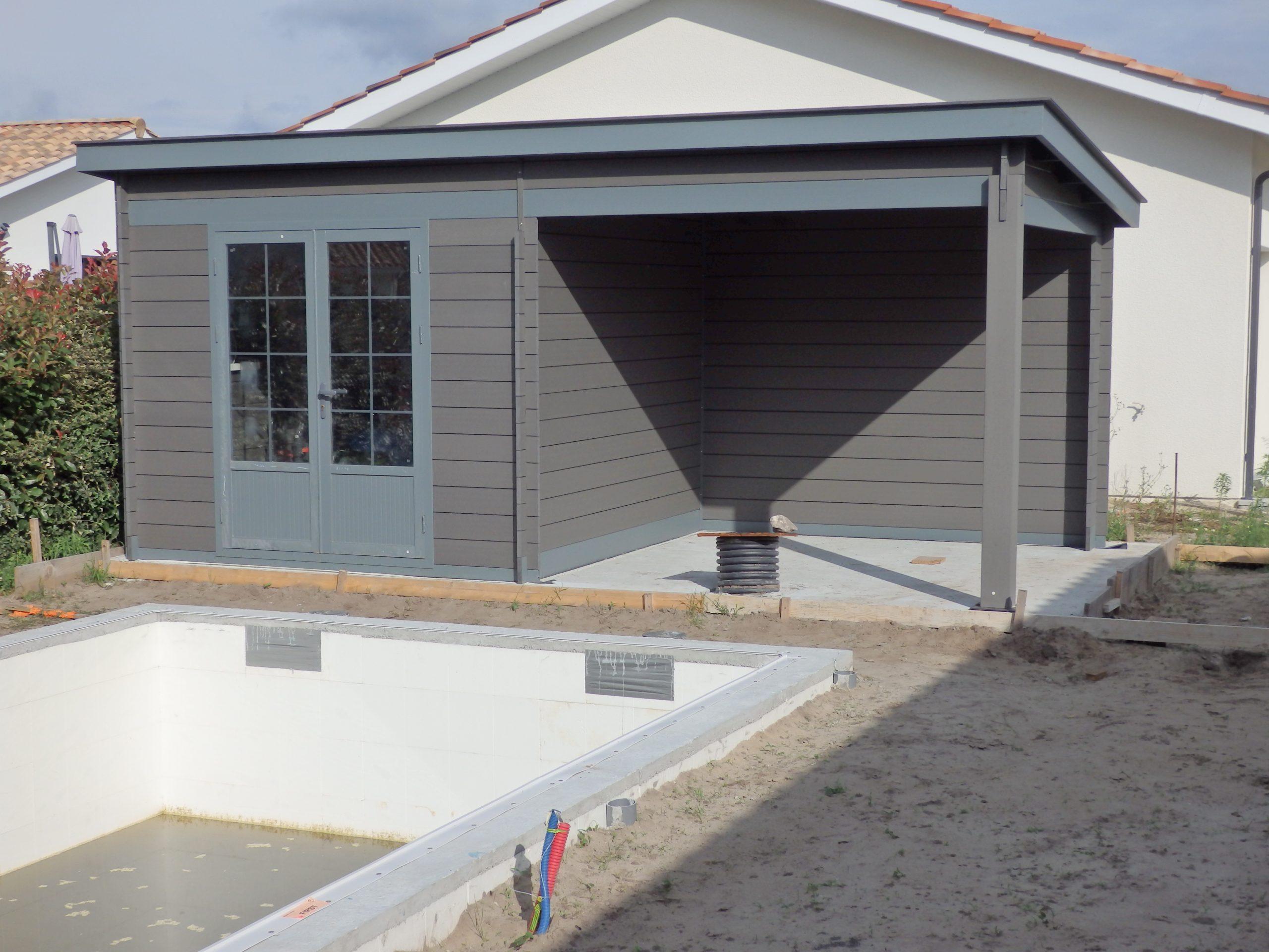 Abri Moderne 6×3 Toit Monopente – Green Outside serapportantà Abri Composite
