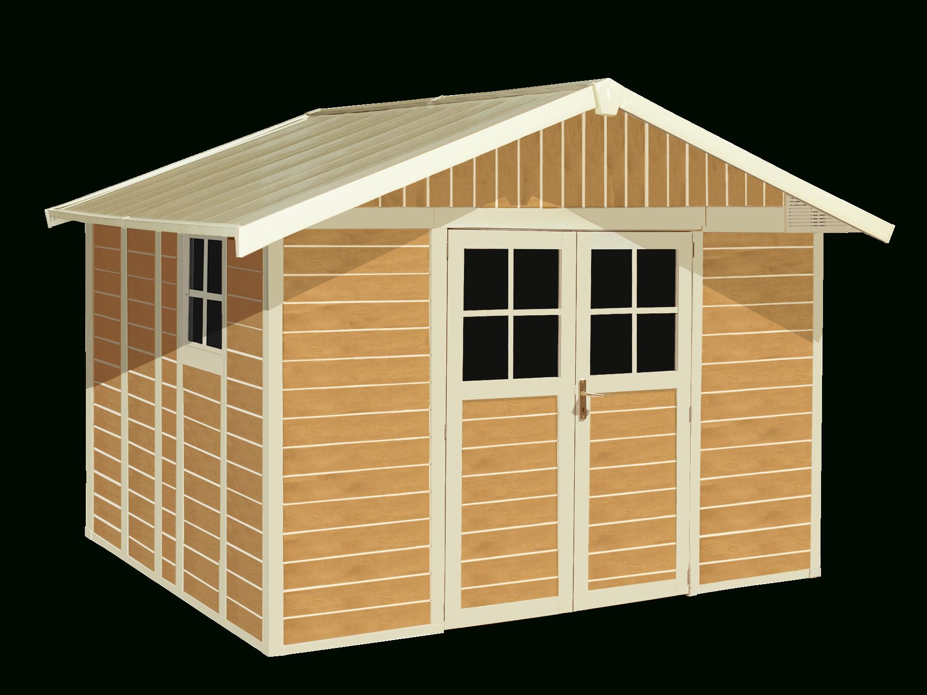 Abris De Jardin Déco Sherwood 7,5 M² | Grosfillex Un Coup De ... destiné Grosfillex Abri De Jardin Pvc