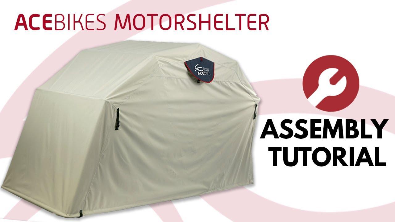 Acebikes Motor Shelter, Faltgarage, L'abri Moto, Assembly Tutorial dedans Abri Moto